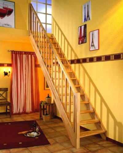 Mlynářské schody DOLLE PARIS Bez podstupnic, Včetně zábradlí, Přímé
