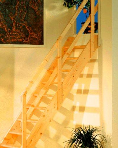 Mlynářské schody DOLLE NORMANDIA Bez podstupnic, Včetně zábradlí, Rovné