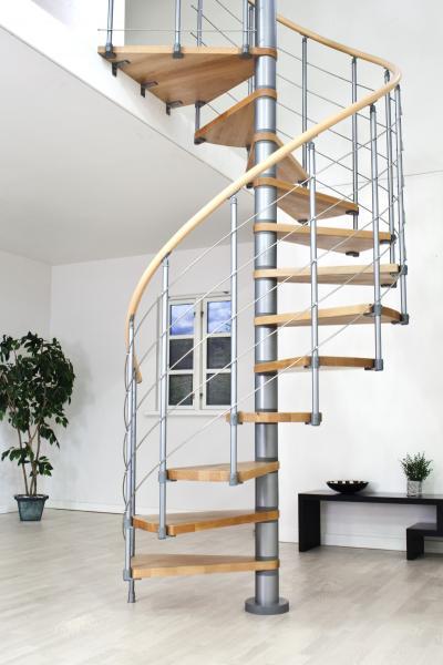 Točité schody DOLLE OSLO 11+podesta (252-282cm), 140 cm, Šedá
