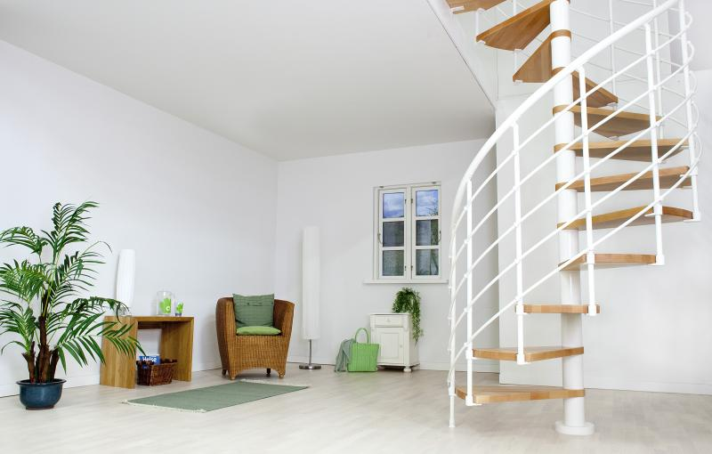 Točité schody DOLLE OSLO 11+podesta (252-282cm), 140 cm, Bílá