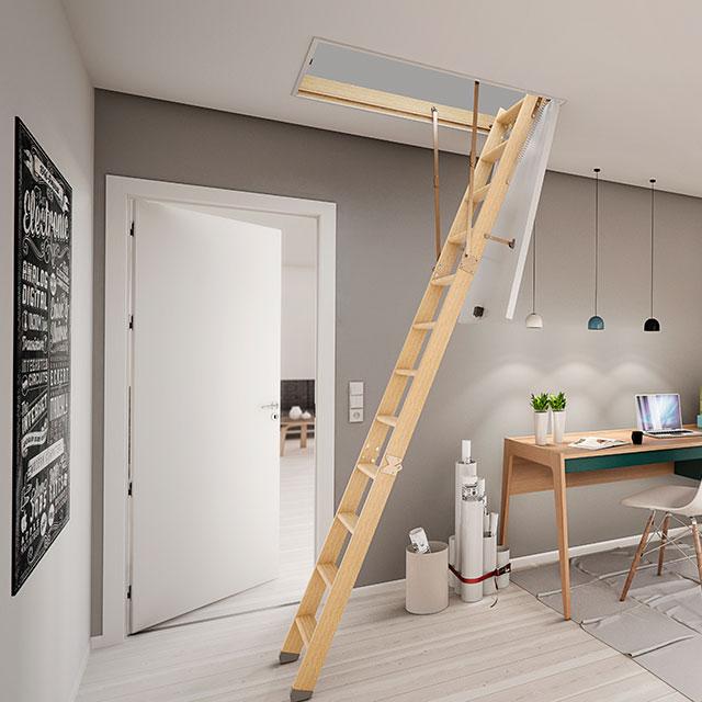 Půdní schody DOLLE CLICK FIX 36 mm / 120x60 cm