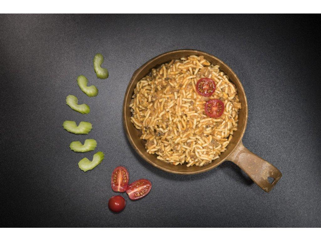 TACTICAL FOODPACK, BOLOŇSKÉ ŠPAGETY S HOVĚZÍM 1