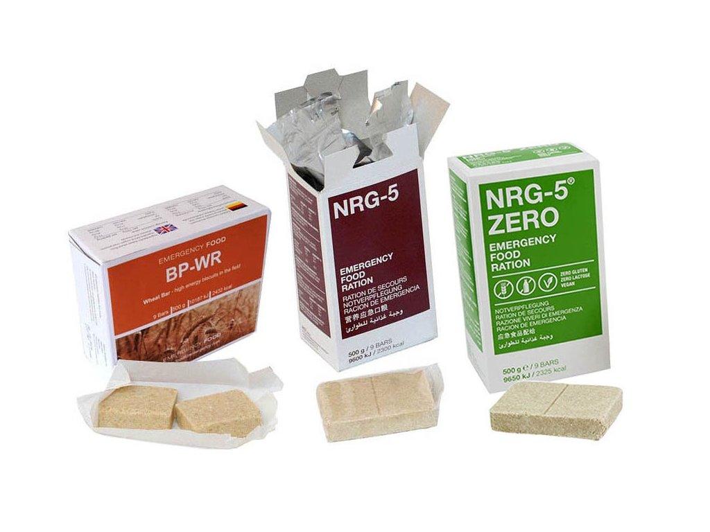 Vzorky BP WR, NRG 5 a NRG 5 ZERO