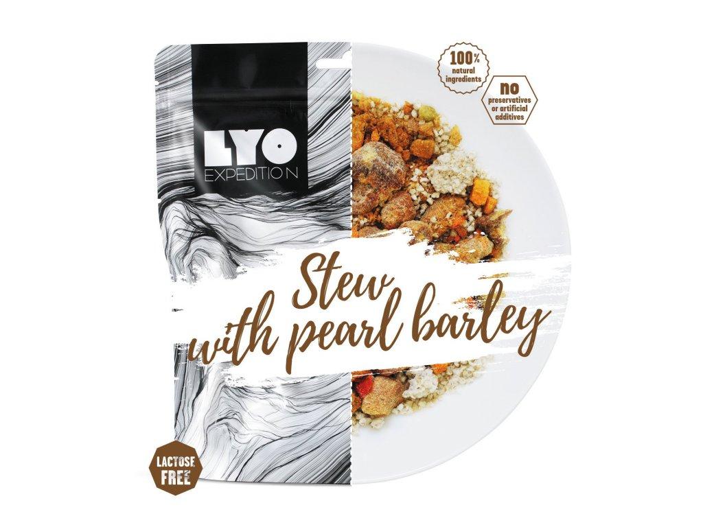 Lyo food Dušené vepřové s kroupami 1