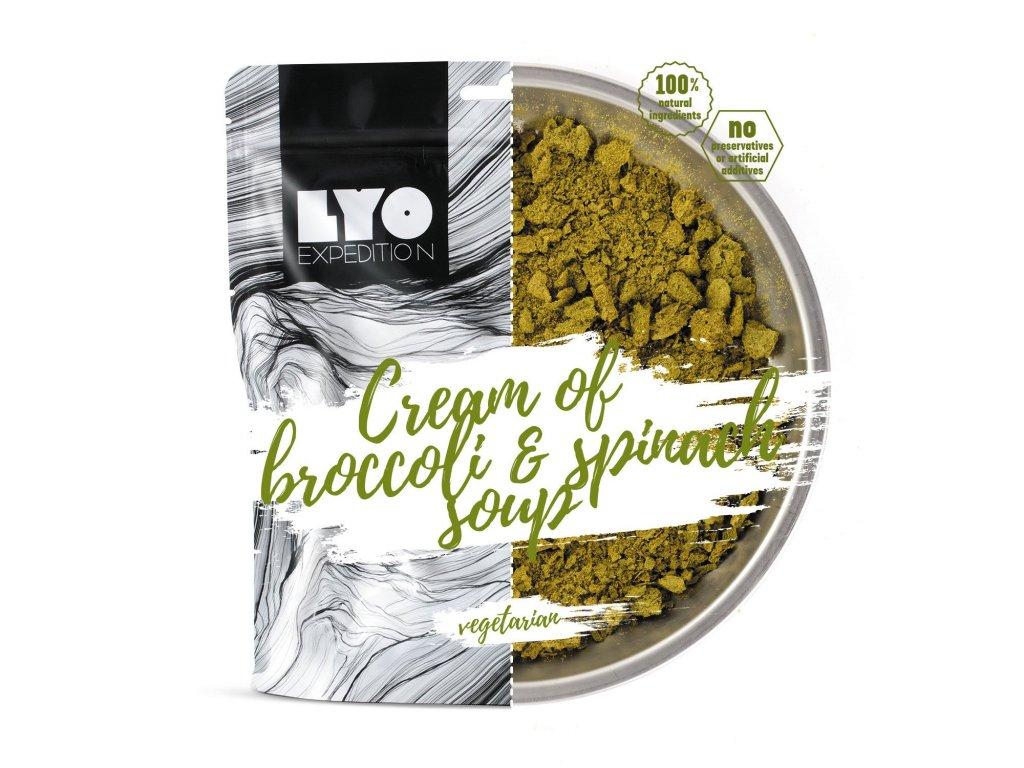 Lyo Food Krémová brokolicová polévka se špenátem 1