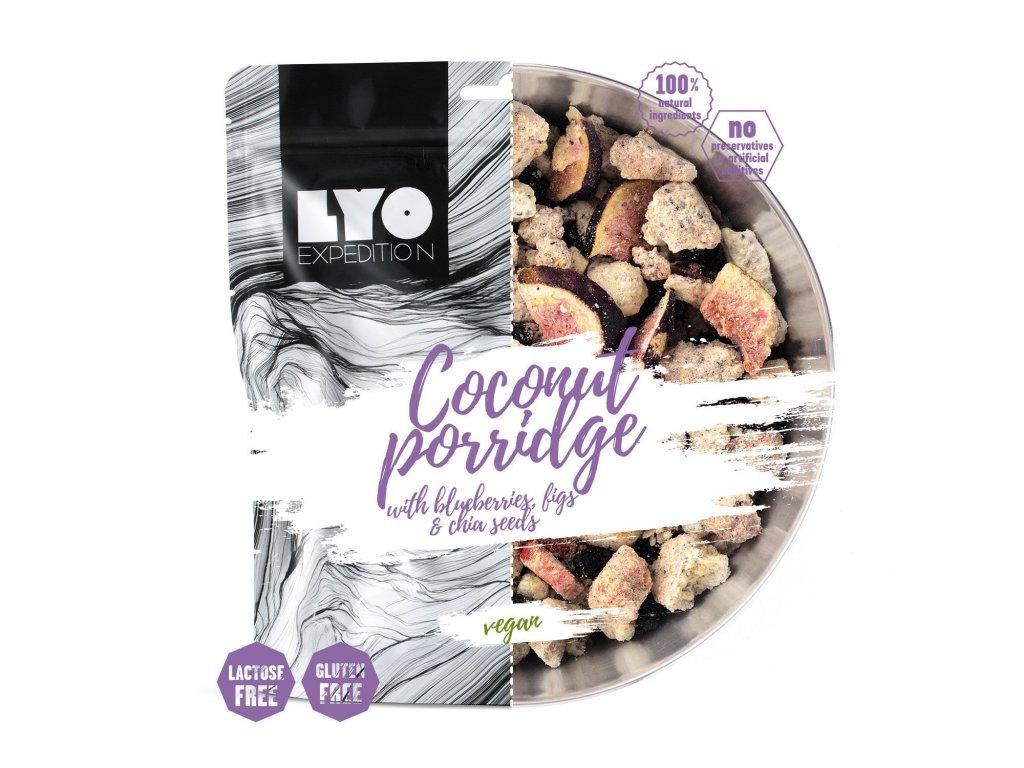 Lyo Food Kokosová ovesná kaše sborůvkami, fíky a chia semínky 1
