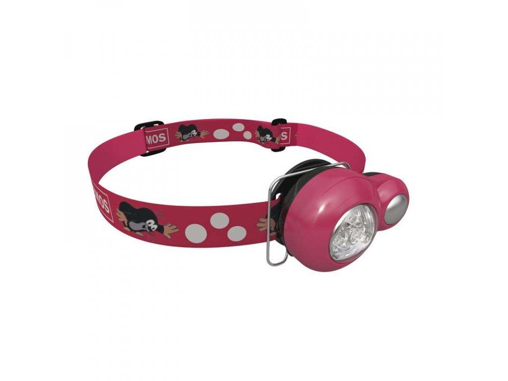 Dětská mini LED čelovka Krteček červená 1