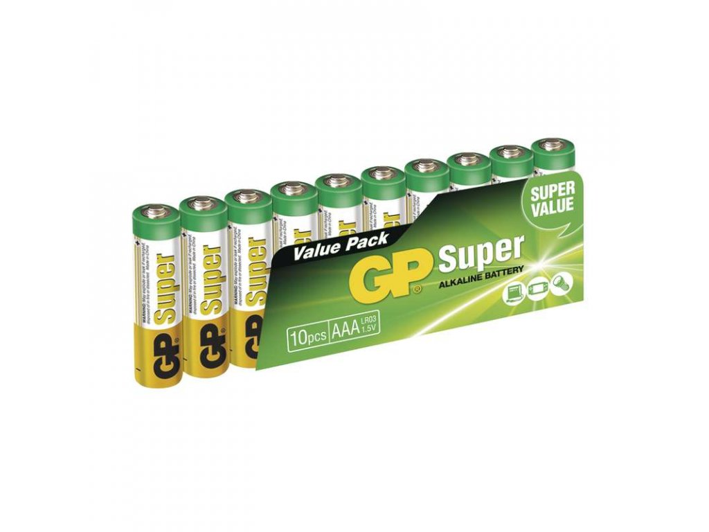 Alkalické baterie GP Super LR03 (AAA) 1