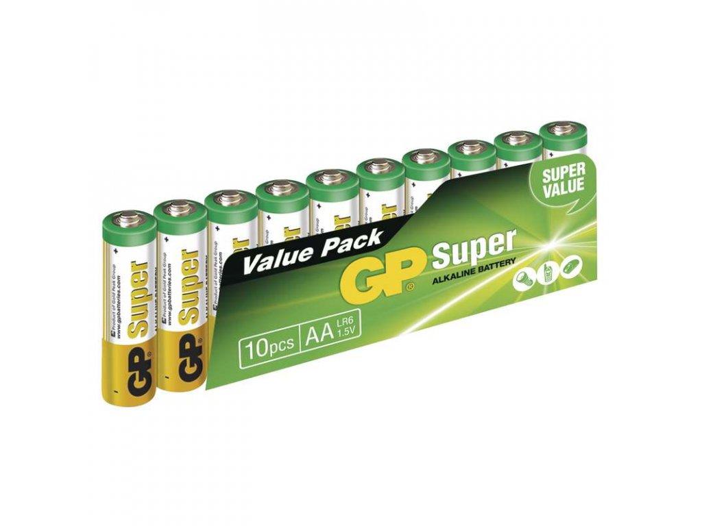Alkalické baterie GP Super LR6 (AA, tužka) 1