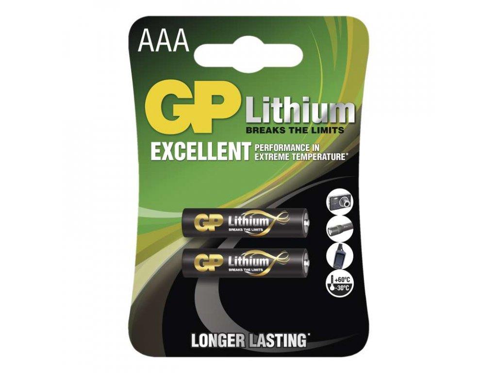 Lithiové baterie GP HR03 (AAA, mikrotužka) 1