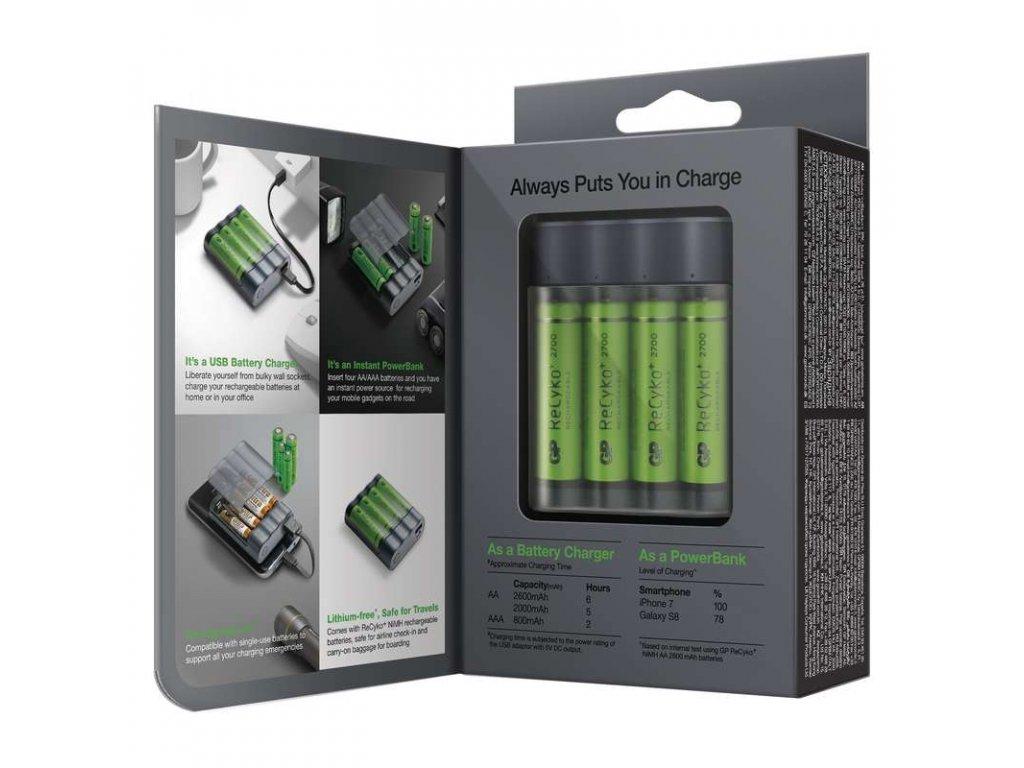 Powerbanka a nabíječka P Charge AnyWay 2v1 2
