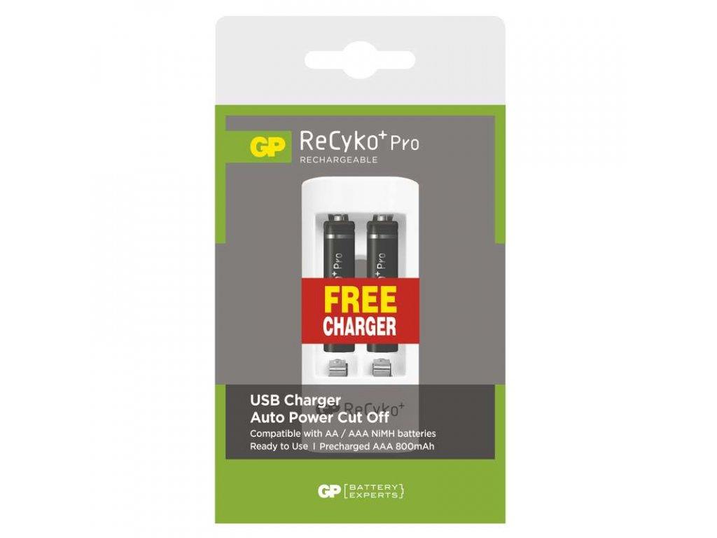 Nabíjecí baterie GP ReCyko+ Pro HR03 (AAA) + nabíječka 1