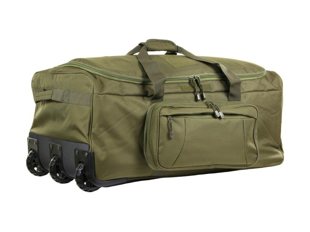 Commando přepravní taška na kolečkách zelená 1
