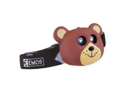 Dětská mini LED čelovka medvěd 1