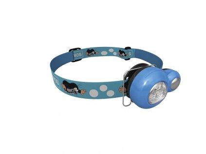 Dětská mini LED čelovka Krteček modrá 1