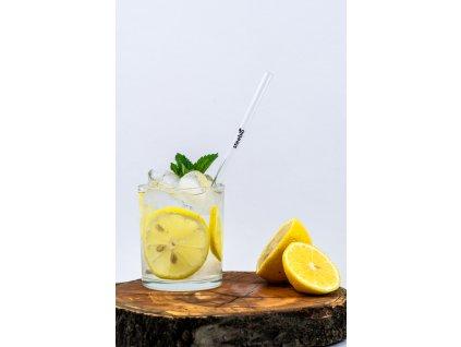 skleněné brčko do drinku