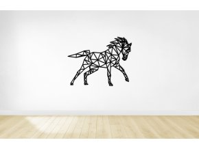 whitewall wodenfloor horse