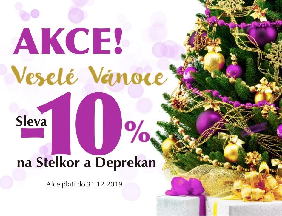 Veselé Vánoce se slevou 10% na Stelkor/Deprekan