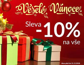 Vánoční sleva 10% na vše
