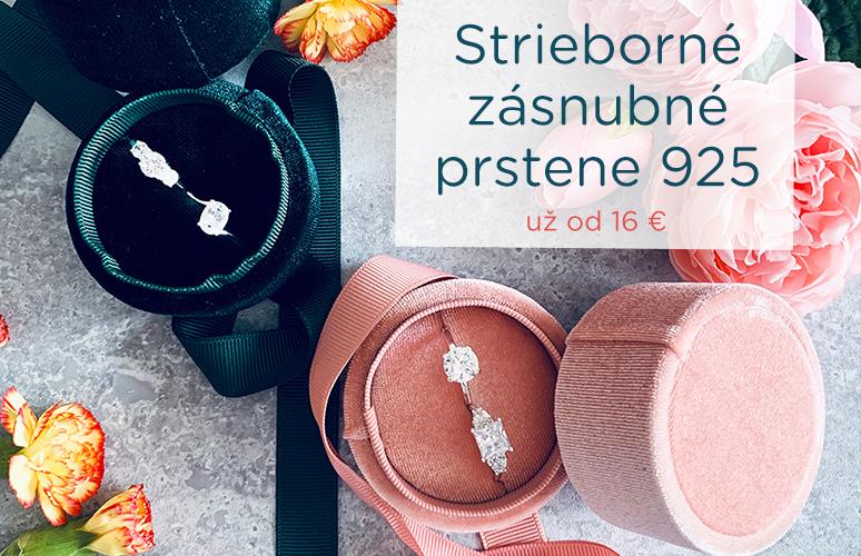 Strieborné zásnubné prstene už od 16 €