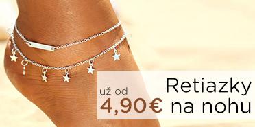 Stella Šperky Eshop - Retiazky na nohu už od 5,45 €