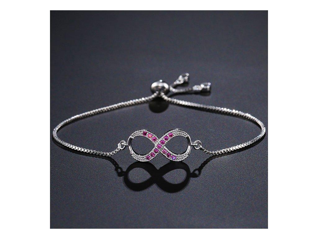Dámsky náramok s ružovými zirkónmi f6ffd049e4a