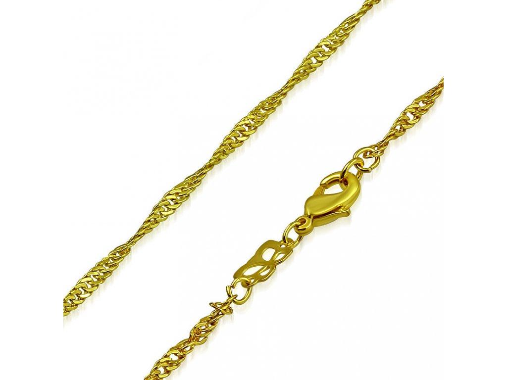 044797a86 Retiazka pre ženu, oceľ zlatej farby, vzor