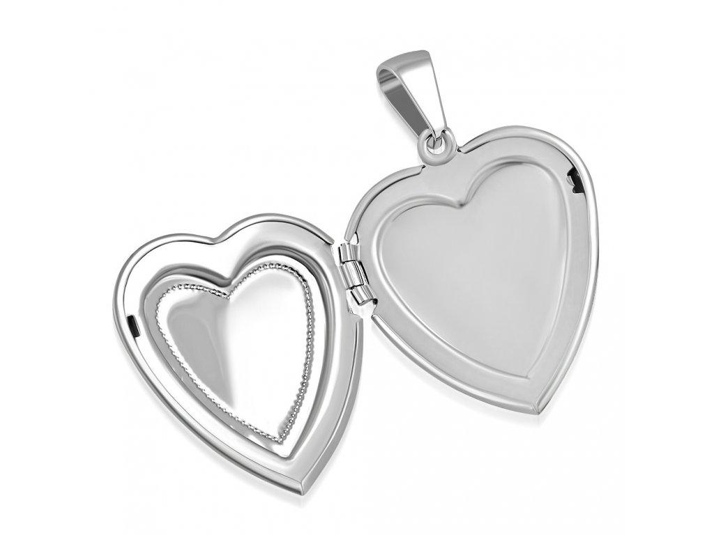 Medailón 3D srdce na fotky z ocele 35c2d79078e