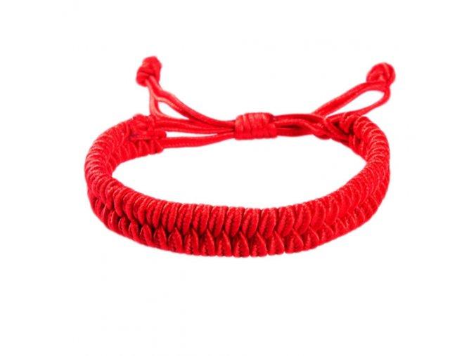 Červený náramok proti urieknutiu, rozťahovací, bižutéria