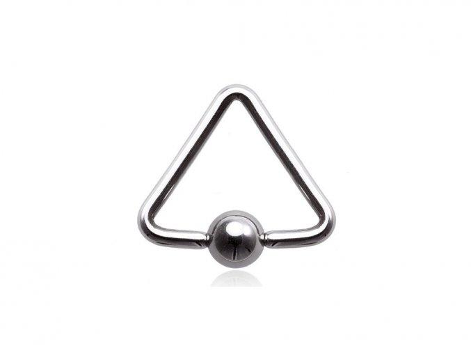 Piercing do bradavky, trojuholník s guličkou z chirurgickej ocele