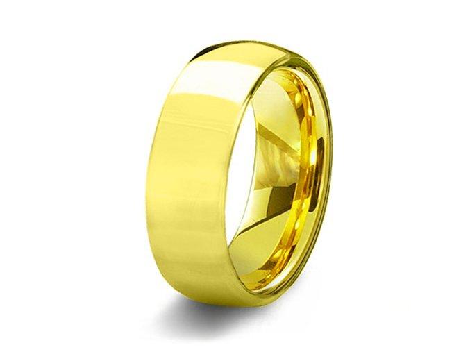 Svadobná obrúčka z chirurgickej ocele, zlatá farba - 8 mm