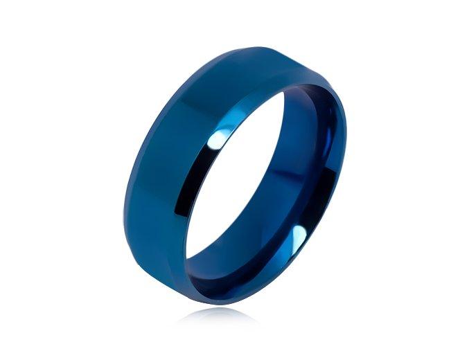 Obrúčka z chirurgickej ocele, modrá farba