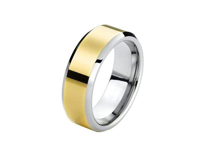 Prsteň z chirurgickej ocele, pás zlatej farby