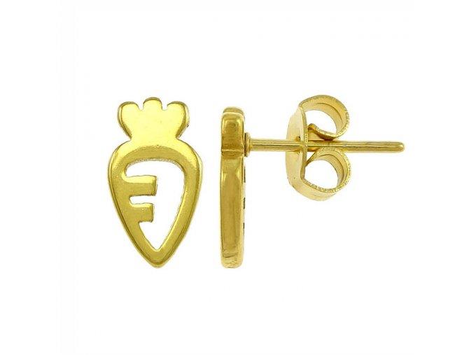 Puzetové náušnice pre ženu, mrkva, zlatá farba01