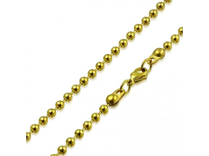 Guličková retiazka z chirurgickej ocele, zlatá farba 1,50550mm (1)