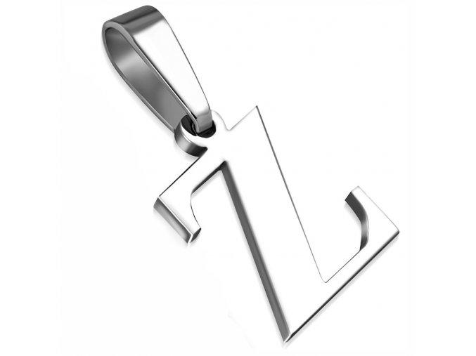 Písmenko Z na retiazku, prívesok z chirurgickej ocele (1)