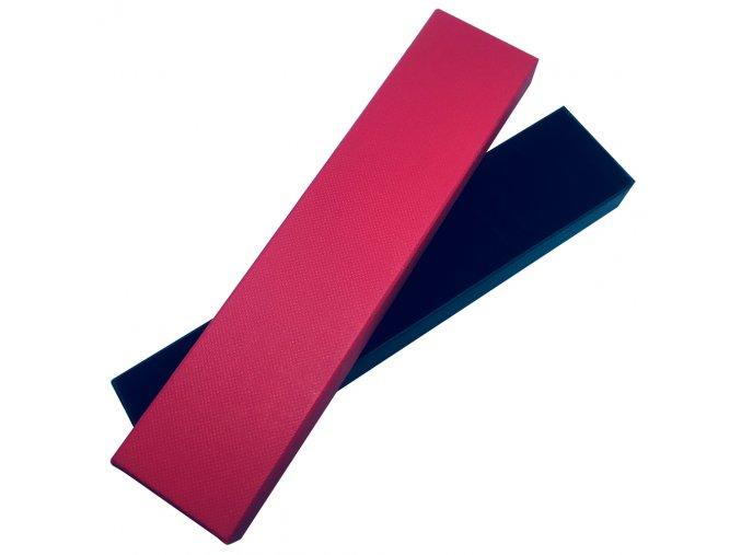 Darčeková krabička na náramok, červená a čierna farba