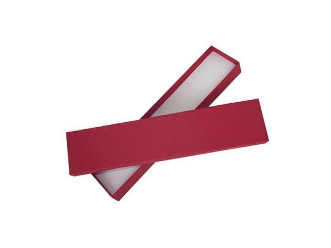 Klasické darčekové balenie na náramok, červená farba