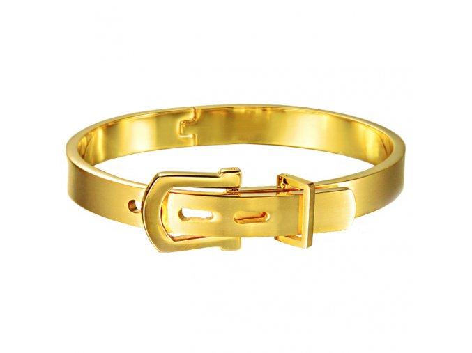 Dámsky náramok na ruku z chirurgickej ocele, opasok zlatej farby (1)