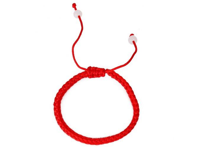 Červený rozťahovací náramok proti urieknutiu, biele perly bižutéria