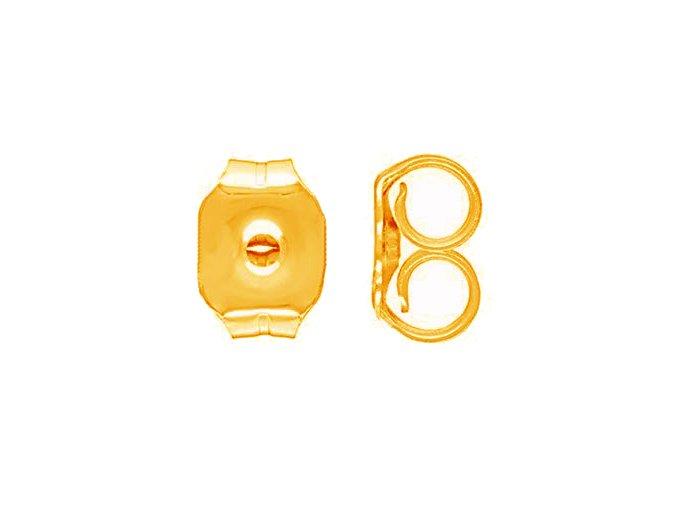 Brzdítko z chirurgickej ocele na puzetové náušnice, zlatá farba pár (1)