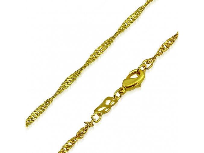Retiazka pre ženu, oceľ zlatej farby, vzor Singapur 2460 mm (1)