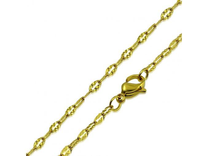 Jemná retiazka na krk z chirurgickej ocele, zlatá farba 2,5450 mm (1)