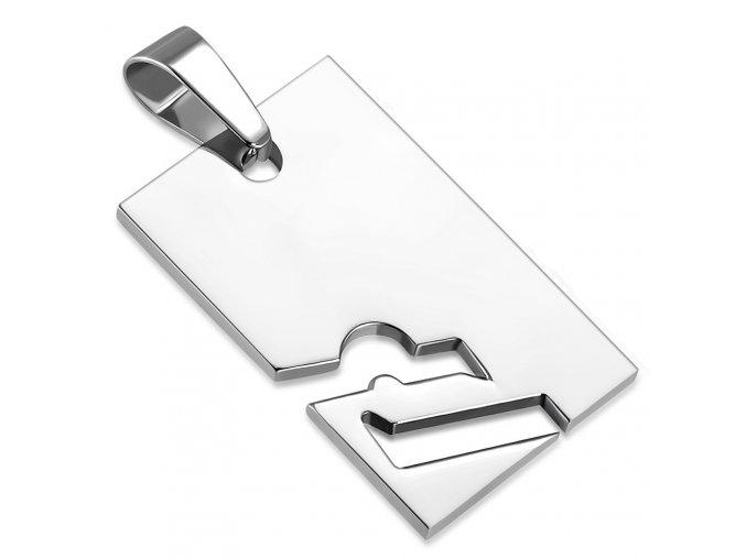 Prívesok známka z ocele striebornej farby, znamenie zverokruhu VÁHY (1)