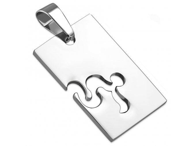 Prívesok známka z ocele striebornej farby, znamenie zverokruhu KOZOROŽEC (1)