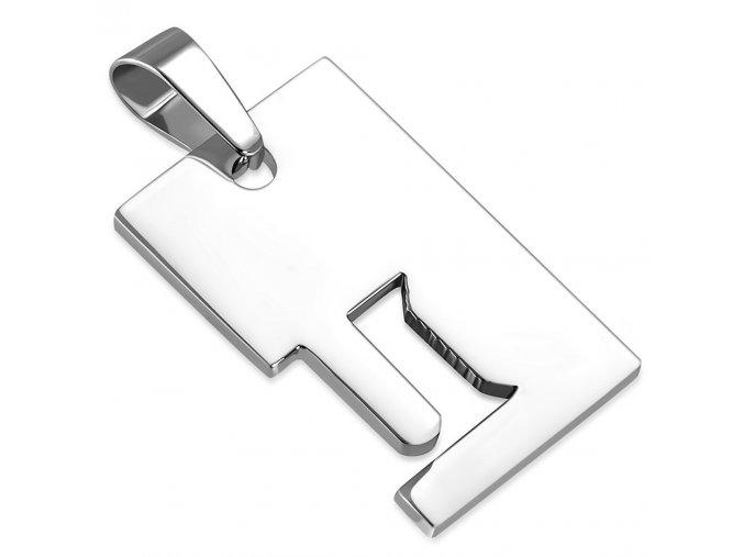 Prívesok známka z ocele striebornej farby, znamenie zverokruhu BLÍŽENCI (1)