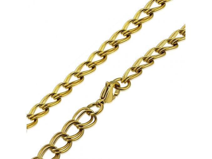 Retiazka na krk z chirurgickej ocele, zlatá farba, vzor Nonna 6600 mm (1)