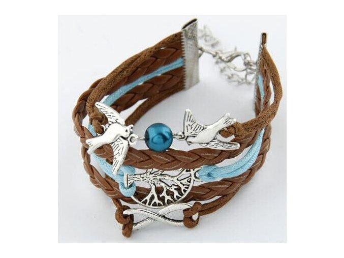 Multi náramok na ruku, hrdličky, korálik, strom života, bižutéria