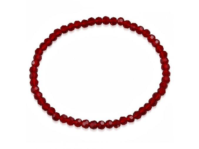 Rozťahovací náramok z brúsených červených korálikov bižutéria