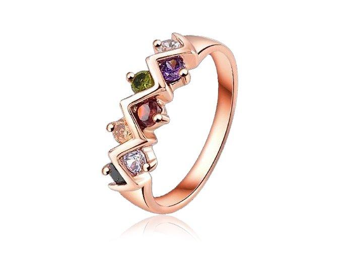 Dámsky prsteň so zirkónmi, ZigZak, bižutéria